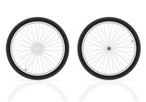 ilustração do vetor de rodas de bicicleta