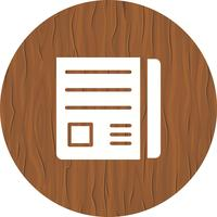 Design de ícone de papel de notícias
