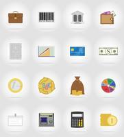 ilustração em vetor ícones plana negócios e finanças
