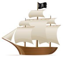 ilustração em vetor navio pirata
