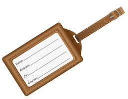 ilustração em vetor cartão de identificação
