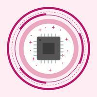 Projeto do ícone do processador