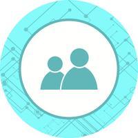 Design de ícone de usuários vetor