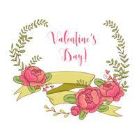 Casamento conjunto gráfico, setas, corações, louro, coroas de flores, fitas e etiquetas.