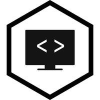 Design de ícone de otimização de código vetor