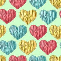 Bonito padrão sem emenda de bolas de fio, botões, meadas de fios ou tricô e crochê.