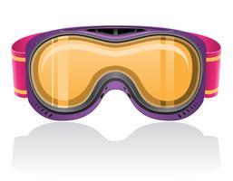máscara para snowboard e ilustração vetorial de esqui