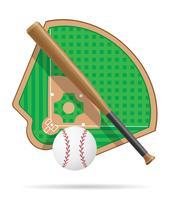 ilustração do vetor de campo de beisebol