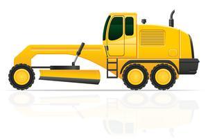 motoniveladora para obras rodoviárias ilustração vetorial vetor