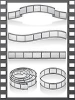 definir ícones de filmstripe vetor