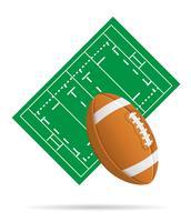 campo para ilustração vetorial de rugby vetor