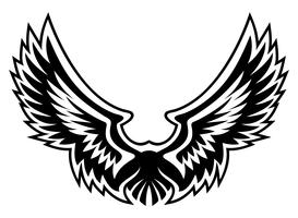 Wing logo gráfico vetorizado vetor