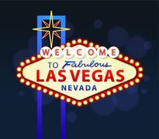 Bem-vindo ao sinal de Las Vegas vetor
