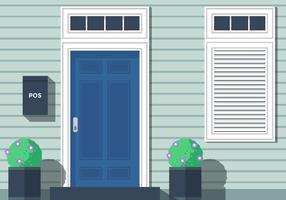 Vetor de portas da frente