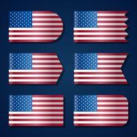 Modelo de bandeira dos Estados Unidos vetor