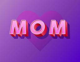 Mamãe tipografia vetor