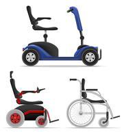 cadeira de rodas para pessoas com deficiência ilustração vetorial de estoque