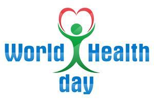 dia mundial da saúde logotipo texto banner vector illustration