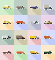ilustração em vetor ícones plana caminhão