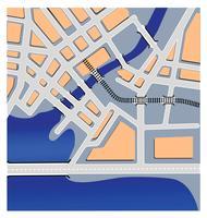mapas urbanos vetor