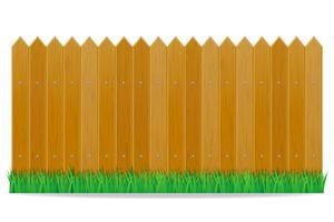 ilustração vetorial de cerca de madeira
