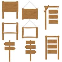 ilustração do vetor de sinais de tábuas de madeira