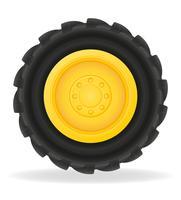 roda para ilustração vetorial de trator vetor