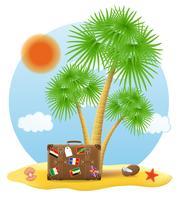 pé de mala debaixo de uma ilustração em vetor palmeira