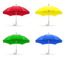 ilustração em vetor cores guarda-chuvas