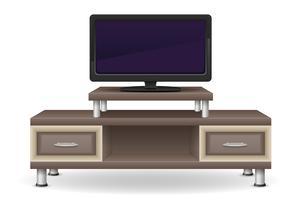 ilustração em vetor móveis mesa tv