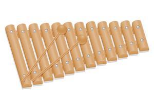 ilustração em vetor estoque xilofone instrumentos musicais