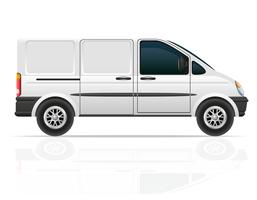 van para o transporte de ilustração vetorial de carga