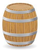 ilustração vetorial barril de madeira