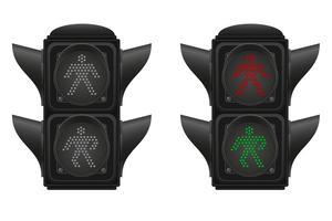 semáforo para ilustração vetorial de pedestres