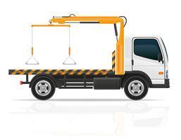caminhão de reboque para falhas de transporte e carros de emergência vector illustration