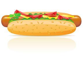 ilustração vetorial de cachorro-quente vetor