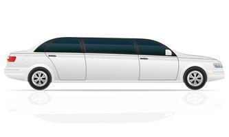 ilustração em vetor limusine carro