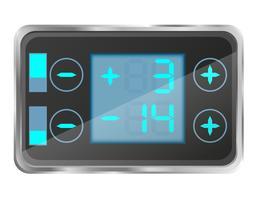 controle de temperatura eletrônico da ilustração vetorial de geladeira