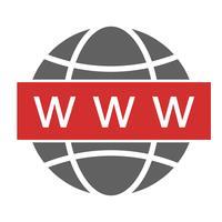 Web design de ícone de pesquisa vetor