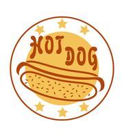 cachorro-quente logotipo para ilustração vetorial de fast-food