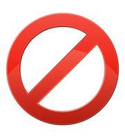ilustração em vetor sinal proibitivo