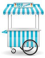 carrinho de comida de rua sorvete ilustração vetorial vetor