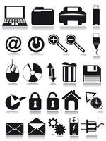ícones da web na internet vetor
