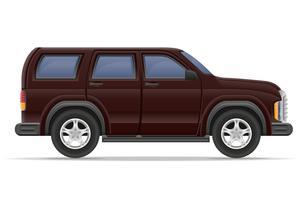 ilustração em vetor carro suv