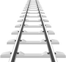 trilhos com ilustração vetorial de travessas de betão vetor