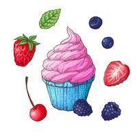 Conjunto de ilustração em vetor sorvete