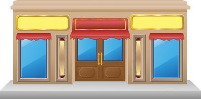fachada de loja com uma vitrine