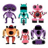 projeto de coleção de vetores de robôs