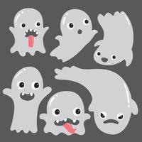 desenho de coleção de vetor de fantasma