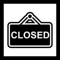 Design de ícone de sinal fechado